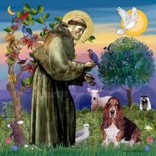 São Francisco de Assis protetor na natureza e dos animais