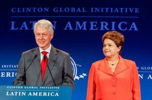 Encontro entre Dilma e Clinton - Clinton Global Initiative